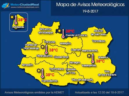 Mapa Alertas Provincia C.Real